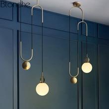 Modern Nordic Glass Pendant Lights Lamp Industrial Ball Hanglamp For Home Deco Bedroom Bar Lighting Fixtures Kitchen Luminaire