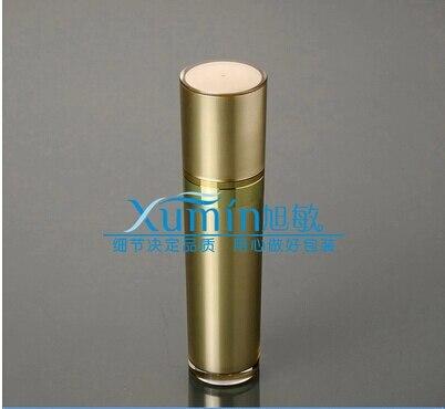 زجاجة مضخة ضغط على شكل مخروط أكريليك ذهبي 50 مللي ، حاوية محلول رذاذ ، زجاجة مستحضرات تجميل بلاستيكية 50 مللي