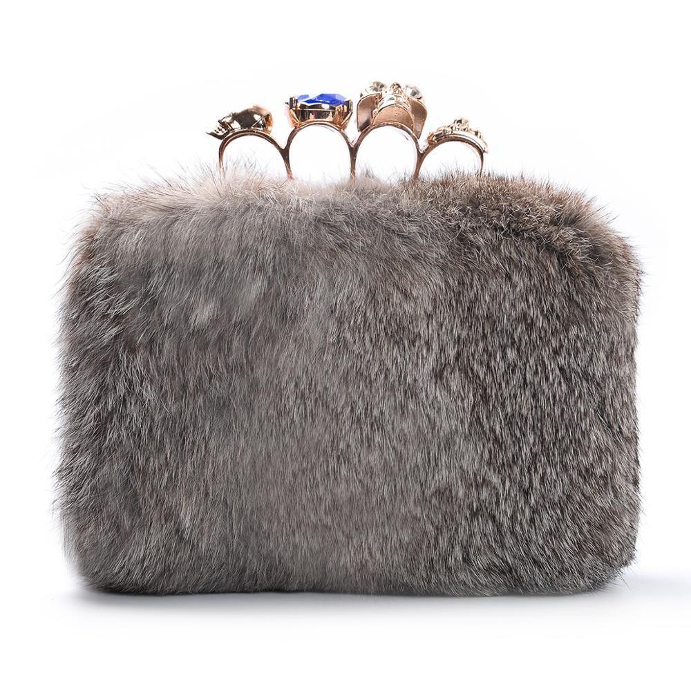 Bolso de mano formal cony hair shoulderbag casual clutch mujer bolsos monedero