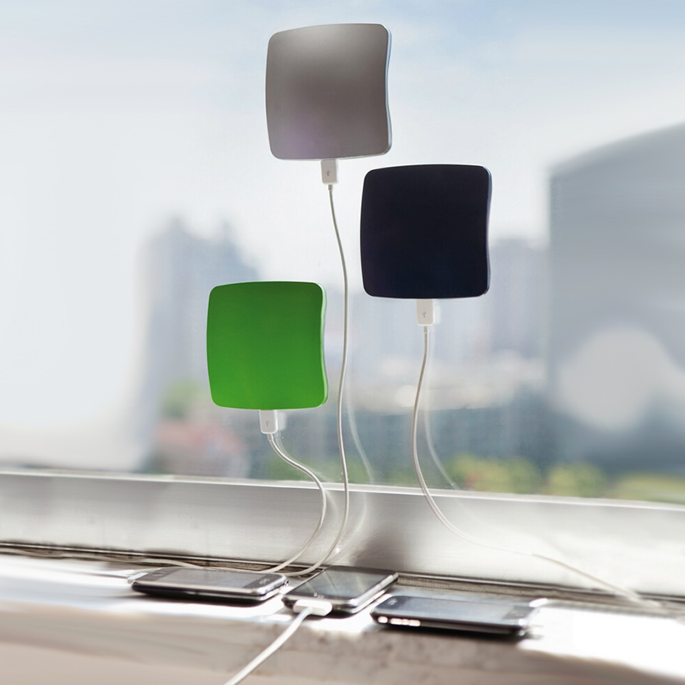 Solar Charger Portable USB Charger 1800/2600/5200mAh Solar Power Bank Car Window Square Sucker Style Charger External battery