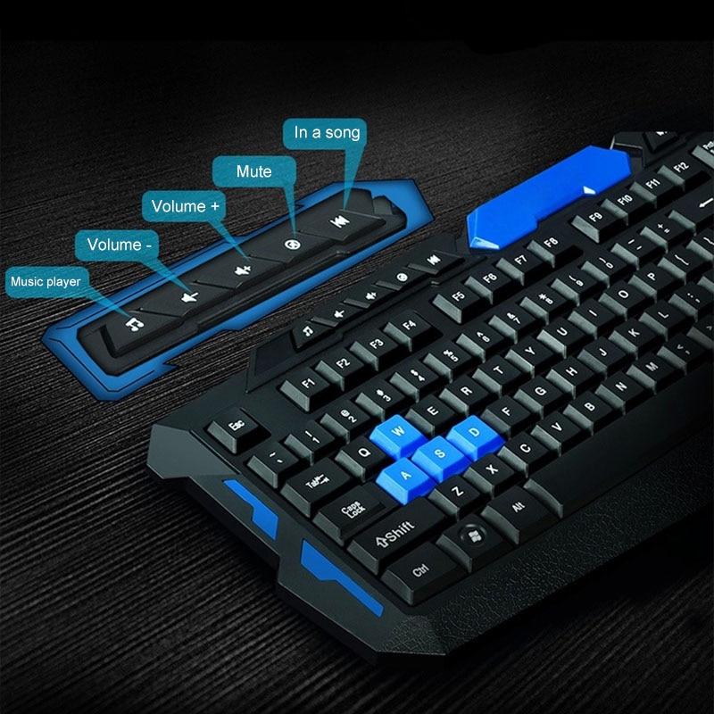 Sans fil 2.4Ghz jeu clavier + souris Combo étanche optique multimédia USB ensemble mécanique UY8