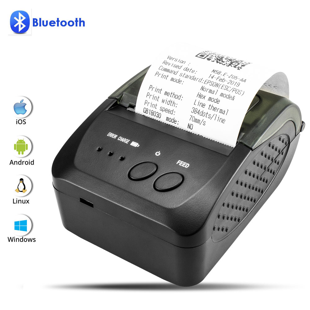 NETUM 80mm Bluetooth Thermal Receipt Printer Portable 58mm Bill Printer for Android IOS Iphone ipad ESC/POS Terminal NT-1809DD cheap usb bluetooth serial pos58 thermal receipt bill ticket printer with cash box port support multiple languages