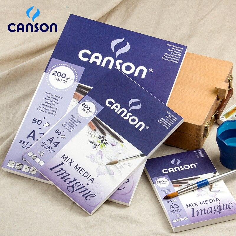 A4 A5 Canson Imagine mixed media art papel 200g dibujo papel para lápiz pastel carbón acuarela Guache sketchbook