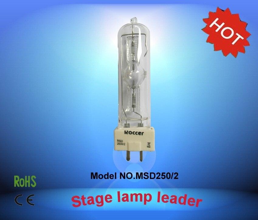 ROCCER MSD250W/2 GY9.5 lámpara de haluro metálico msd250w para 250W cabeza móvil 8000k msd250/2 HSD250W /80 MS