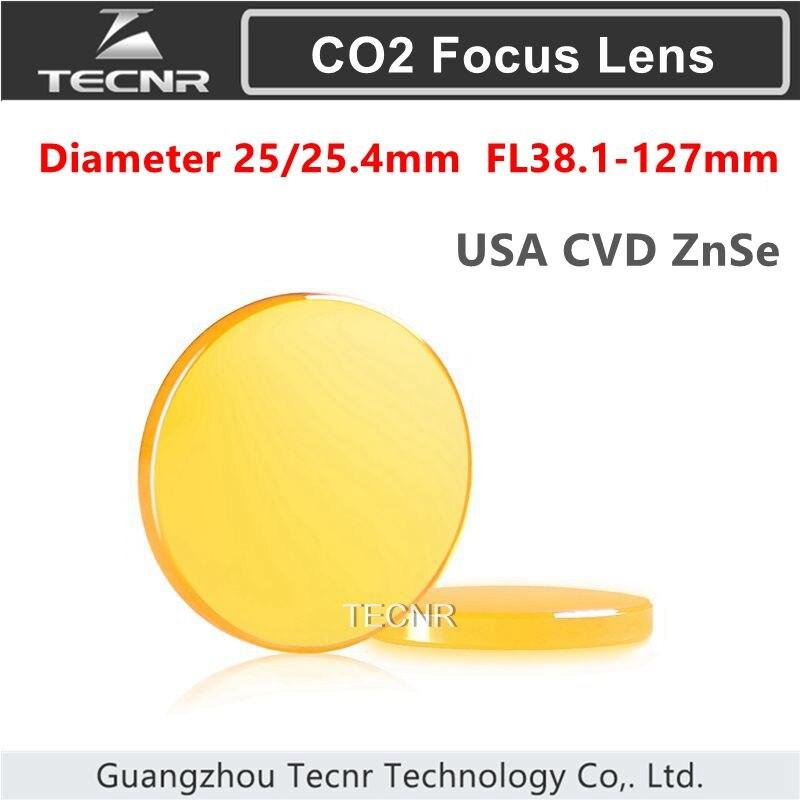 США CVD ZnSe Co2 лазерный фокус диаметр объектива 25 мм 25,4 мм FL 38,1-127 мм 1,5