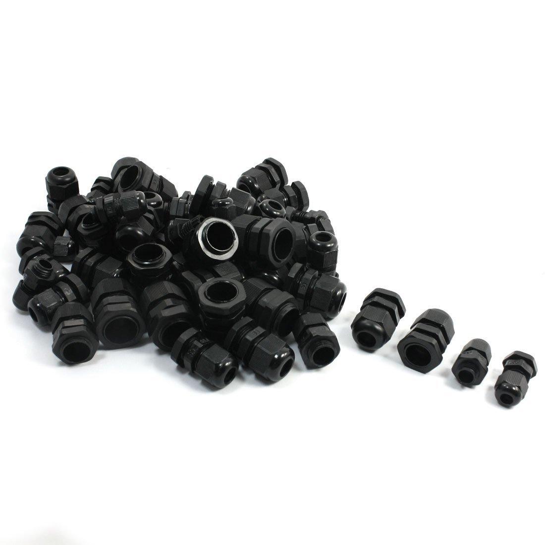 50 шт. PG7 PG9 PG11 PG13.5 PG16 черные пластиковые Водонепроницаемые кабельные сальники