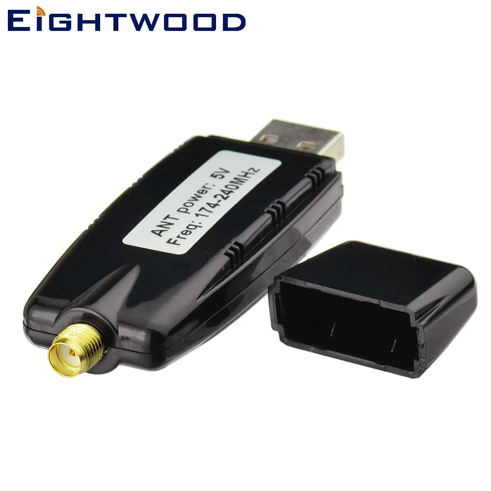 Eightwood europa universal dab + adaptador de rádio usb receptor para xtrons android 5.1 & 6.0 carro dvd player estéreo usb dab rádio automático