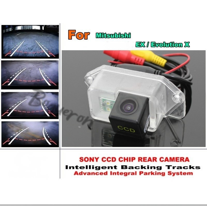 For Mitsubishi EX / Evolution X 2007~2015 Intelligent Car Parking Camera Reverse Tracks Module Rear View Camera CCD Night Vision