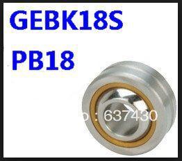 20pcs/lot  18mm threaded rod GEBK18S / PB18 radial spherical plain bearing with self-lubrication