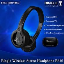 Original, Bingle B616, auriculares estéreo inalámbricos multifunción con micrófono, Radio FM para MP3, PC, TV, Audio, teléfonos