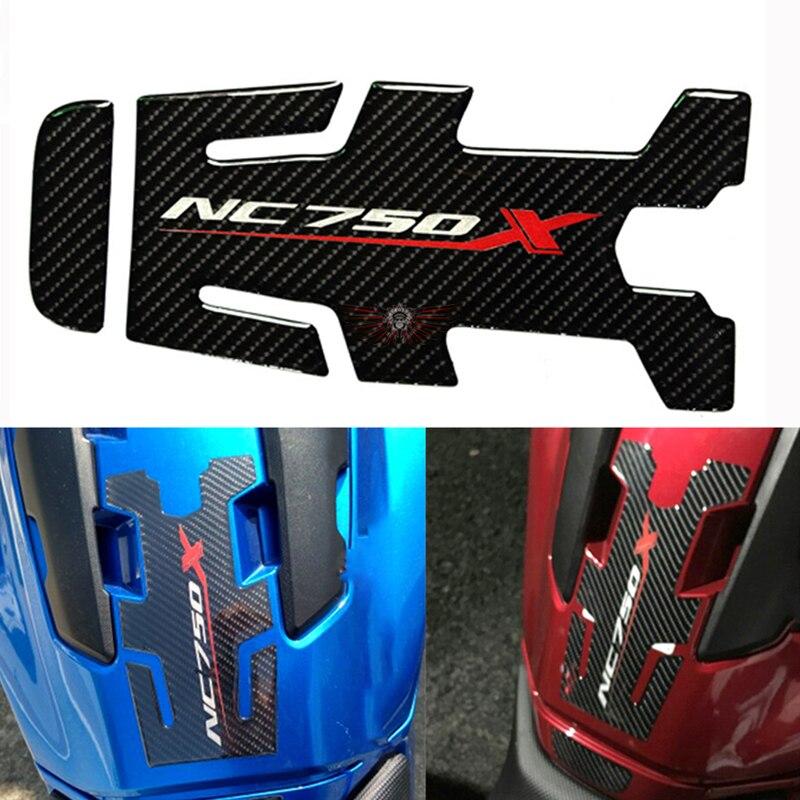 Accesorios para motocicleta, almohadilla para depósito de gasolina de fibra de carbono, pegatina protectora para HONDA NC750 NC750X NC 750X2014 2015 2016