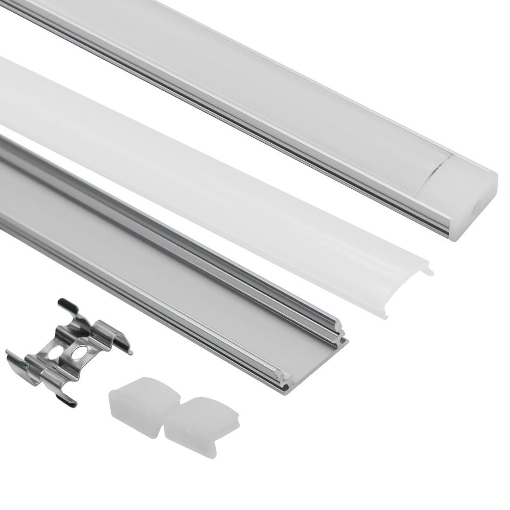 Светодиодная лента, алюминиевый профиль для 5050, 5630, 10 шт., 1 м