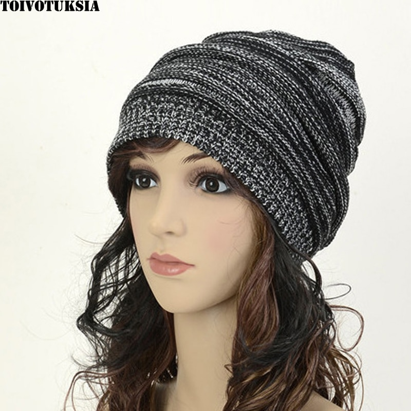 Женская Осенняя модная зимняя шапка TOIVOTUKSIA, зимняя теплая шапка, вязанная шапка