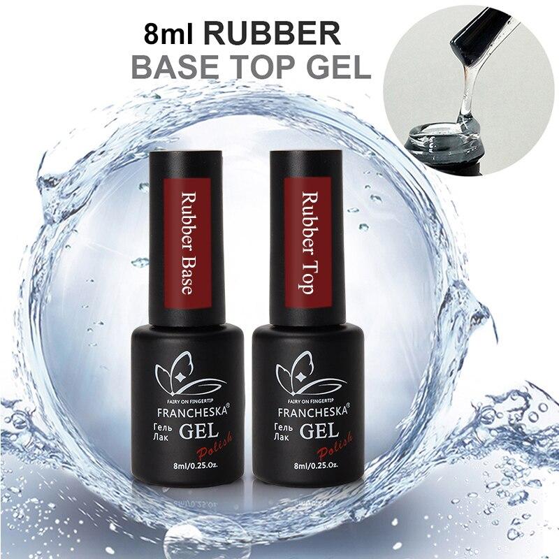 Oje-esmalte de gel uv para manicura francesa, gel de capa superior para base de esmaltes, base para uñas, lakiery hybrydowe, deshidratador acrílico, 2018