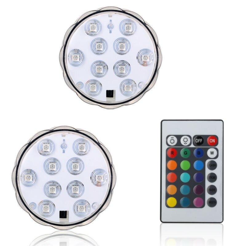 נר צוללת עמיד למים RGB ססגוניות אגרטל בסיס אור 10 LED מסיבת חתונת קישוט נופש אורות פנס נייר