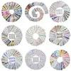 Autocollants pour ongles à l'aquarelle et à fleurs ensemble de décalcomanies pour Gel de manucure ensemble de feuilles à glissière à eau mélange nouveaux Designs vente en gros 2020