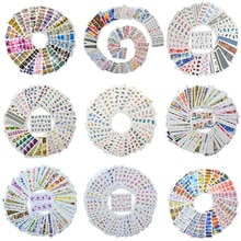 Venta al por mayor mezcla 2020 nuevos diseños acuarela Floral flor pegatina adorno de uñas Set para Gel manicura decoración agua Slider Foil Set