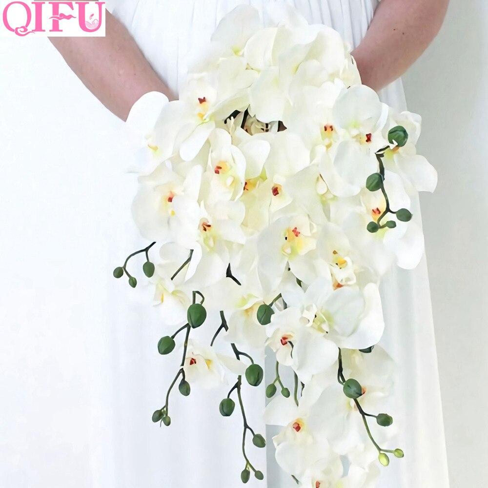 Flores artificiais orquídea, flores artificiais de orquídea phalaenher orquídea cymbidium planta de seda bouquet decorações