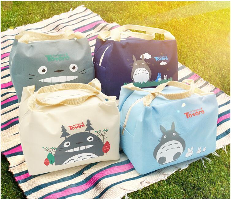 Сумка для ланча, 1 шт., из ткани Оксфорд, с изображением Тоторо, новая сумка для еды, сумка-тоут, сохраняющая тепло, 3 года гарантии