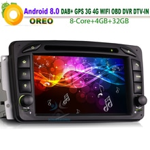 Android 8.0 DAB + lecteur dautoradio Mercedes C/CLK W203 W209 Viano Vito   Autoradio, GPS DVD CD BT OBD SD, Wifi DVR, SatNav