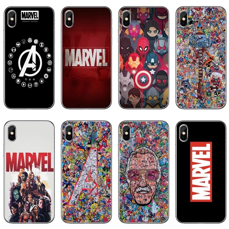 Marvel Comics vengadores superhéroe Collages para Samsung Galaxy J8 J6 J5 J4 J3 J2 Plus primer pro 2016 de 2017 de 2018 teléfono casos