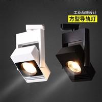 LED Track Rail Spotlight 20W 30W Dimmable COB Track Lamp Art Deco Showcase Clothing Shop Black White Housing Exhibition Fixture