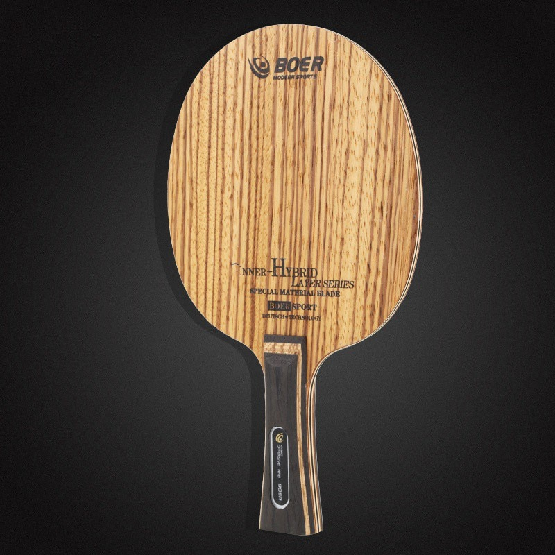 BOER 7 capas Arylate fibra de carbono hoja de tenis de mesa ligera raqueta de Ping Pong hoja de tenis de mesa accesorios de alta cantidad