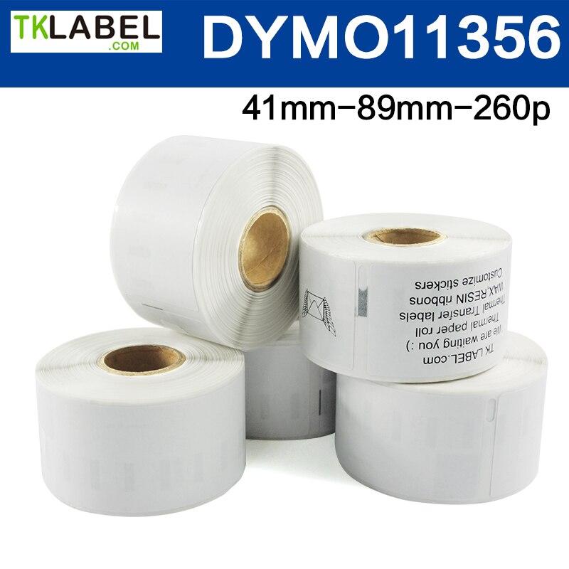 8 Rodillos DYMO 11356 etiqueta térmica directa 41*89mm * 260 etiquetas LW450 Etiqueta de impresión compatible