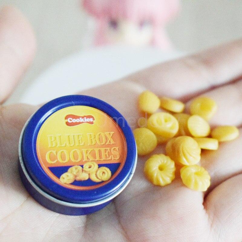 1/12 escala casa de bonecas em miniatura alimentos mini biscoitos com caixa miniaturas jogar comida boneca casa cozinha brinquedos para meninas
