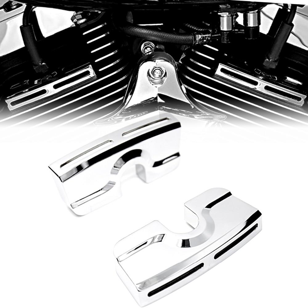 أغطية مسمار كروم لطرازات Harley Dyna و Softail و Touring و Twin Cam 1999-2017 ، لون يسار ويمين
