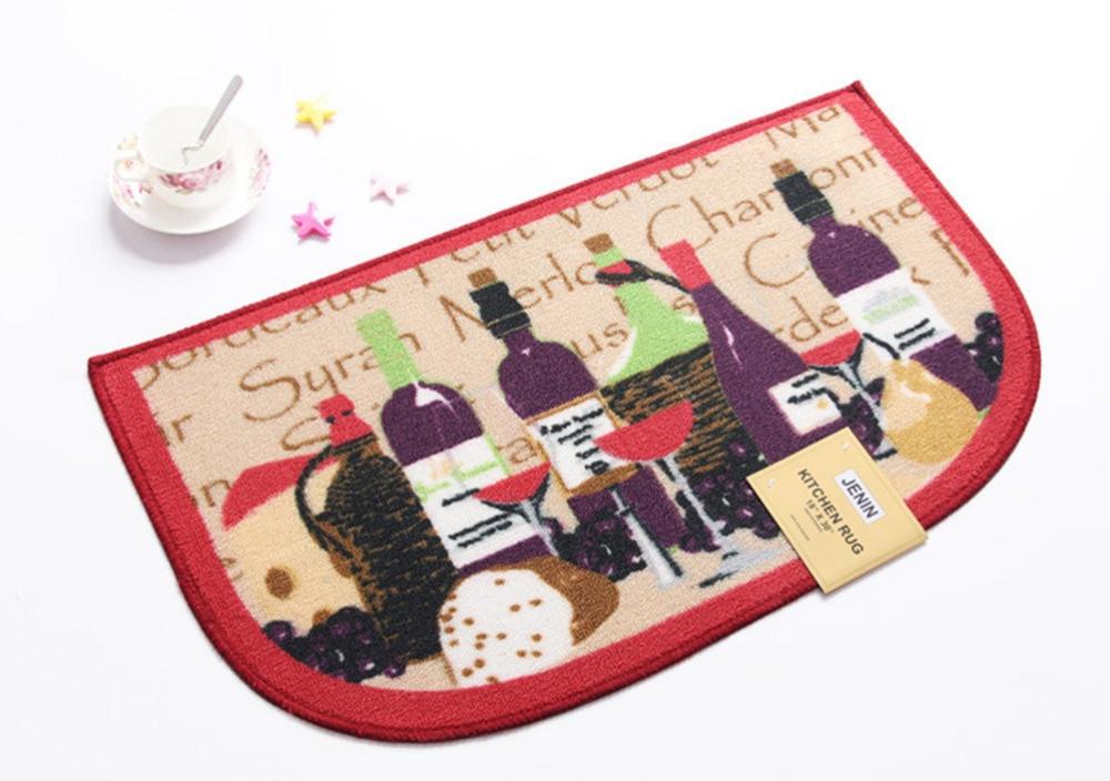Alfombra para botellas de vino NiceRug, semicircular, Estilo Vintage, alfombrillas gruesas y suaves, alfombras, decoración del hogar para dormitorio, mesa de café, Carpe