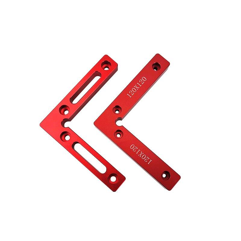 """Cuadrados de posicionamiento de 90 grados 4,7 """"x 4,7"""" abrazaderas de ángulo recto aleación de aluminio 120x120mm bloque L herramienta de carpintero de carpintería cuadrada"""