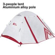خيمة تخييم في الهواء الطلق موبي جاردن كولد مونتين ل3 أشخاص من 3 فصول بطبقة مزدوجة محكمة الغلق وتسمح بالتهوية