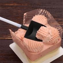 100 Pcs/set Ice Cream Spoon Home Garden Plastic Disposable Dessert Stick Cake Scoop Shovel Shape Party Cutlery Utensils