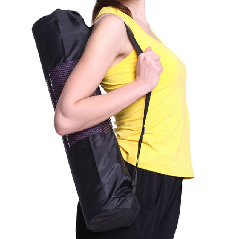 Wysokiej jakości nylonu yoga mat pilates przewoźnika torby siatki centrum regulowany pasek przypadku przenośne ramię torba brand new 1