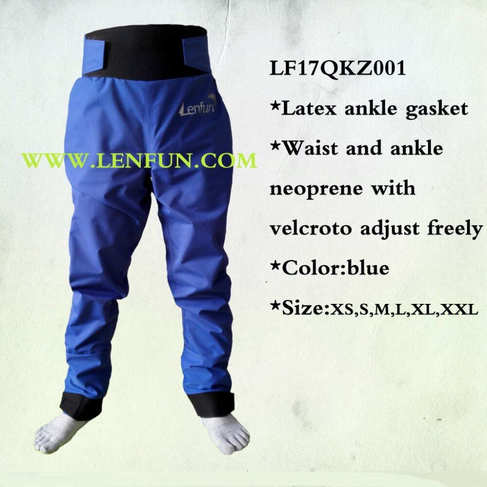 Padel seco pantalones de navegación pantalones impermeables látex tobillo junta para kayak, vela, Caneo, pesca, remo, rafting, agua blanca