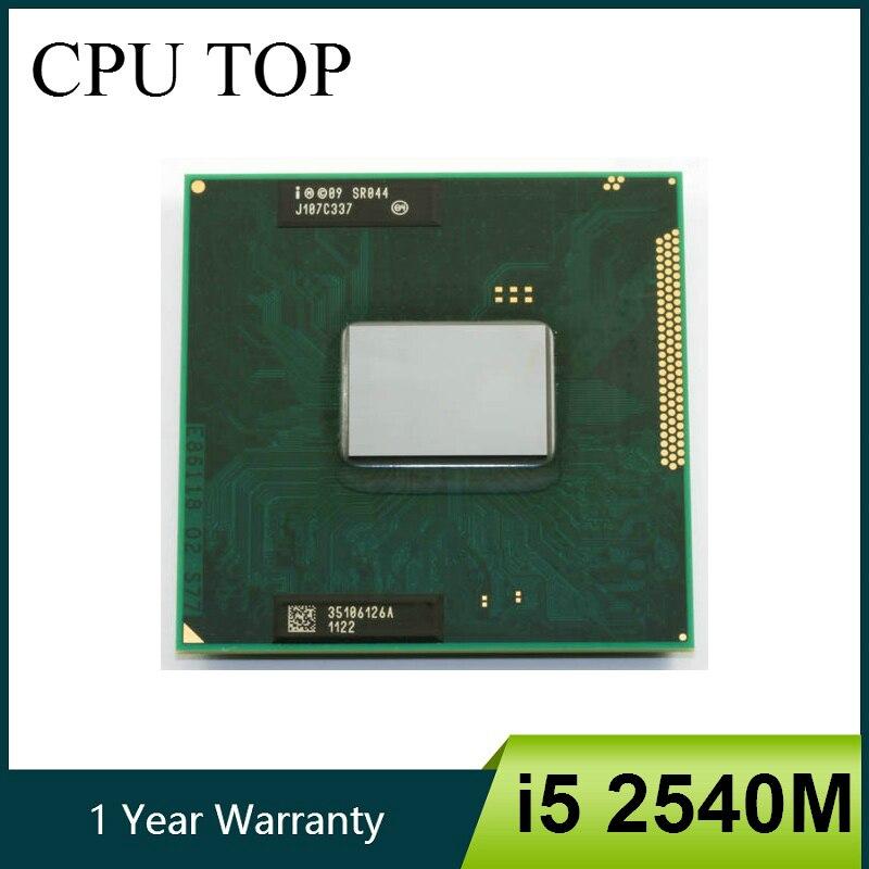 Intel core i5 2540 m 2.6 ghz duplo núcleo soquete g2 processador cpu portátil sr044