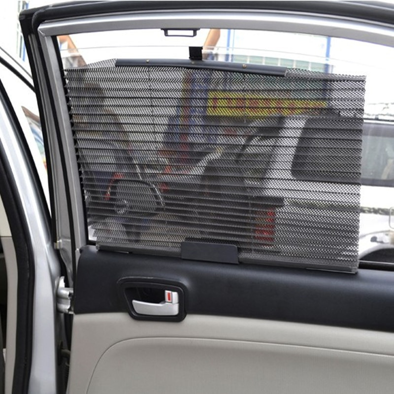 Car Side Window Sun Shade Curtain Windshield Blind Sunshade Shield UV Protection Retractable Roller Mesh Cover Baby Visor Shield