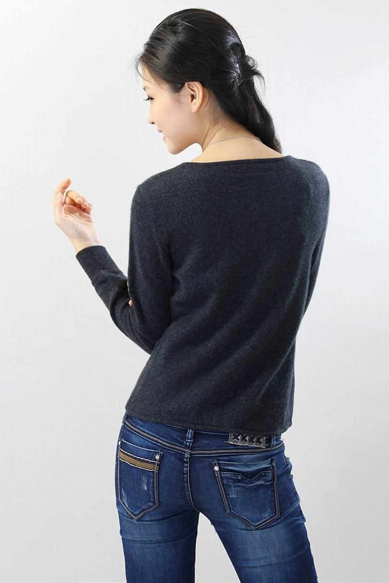 100%Cashmere Black Sweater Women Chinese Button Natural Fabric Extra Soft Warm High Quality Clearance Sale Free Shipping enlarge