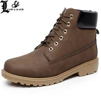 faux suede leather men boots spring autumn and winter man shoes ankle boot mens snow shoe work plus size 39 46 l043