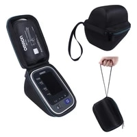 hard carrying case for omron 10 series wireless upper arm blood pressure monitor with cuff standard and large arms bp786bp785
