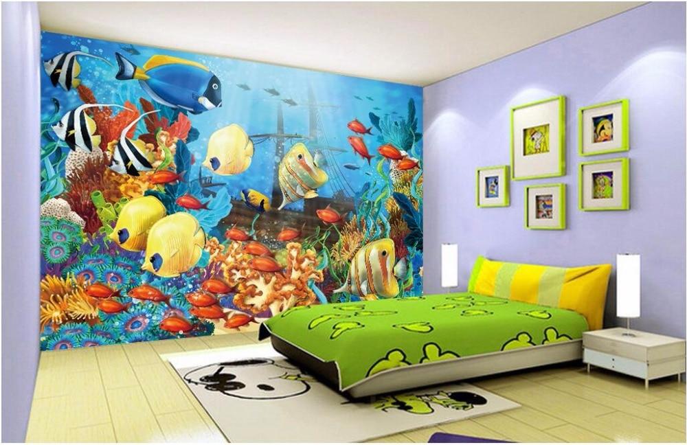 Фотообои на заказ, 3d обои для аквариума, домашний декор, 3D-обои для стен 3 d