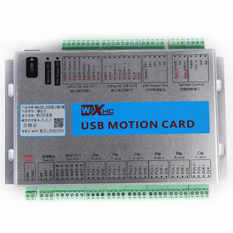 4 ejes CNC router Mach4 USB Tarjeta de Control de movimiento para fresadora envío gratis