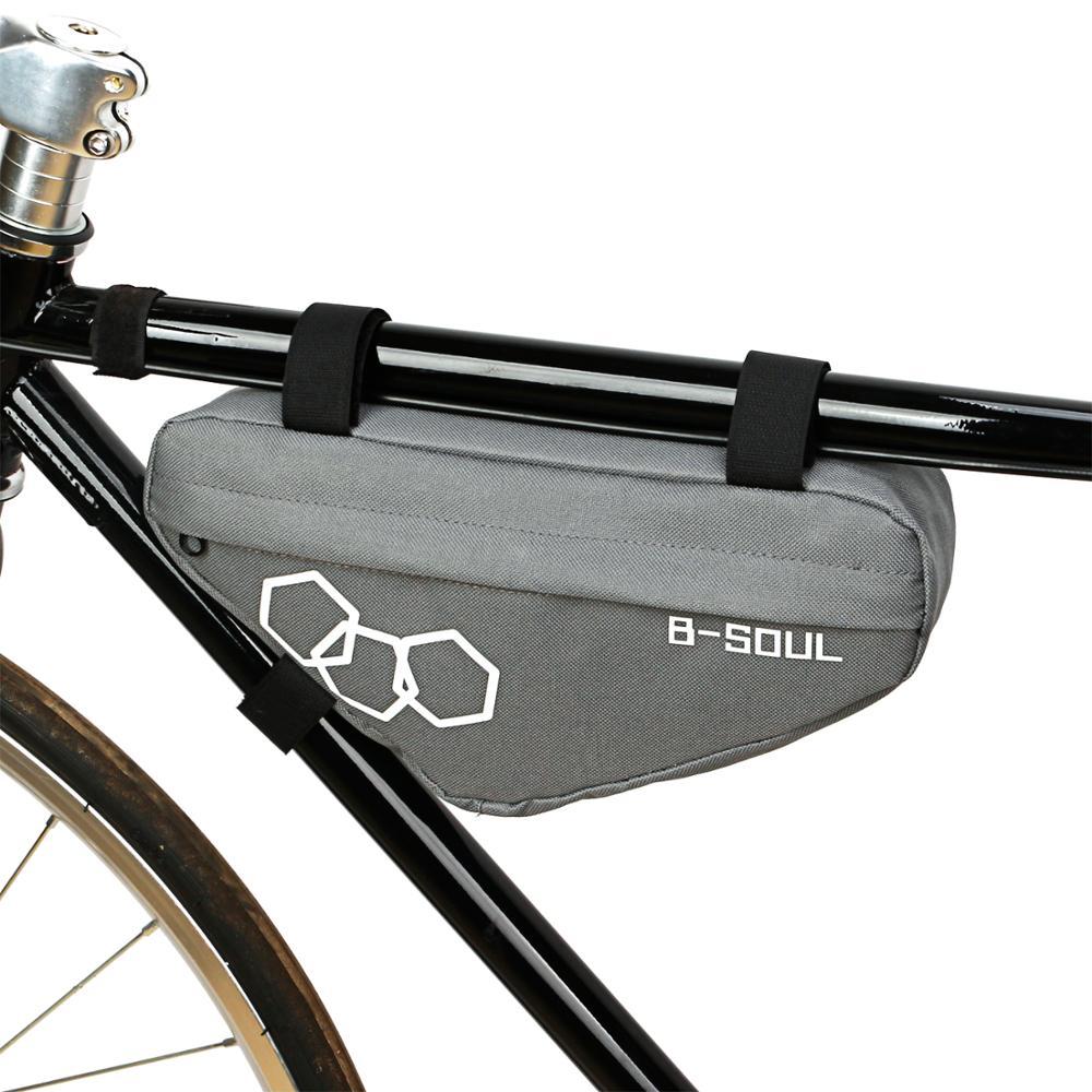 Bolsa de bicicleta impermeável, estojo frontal para bicicleta com tubo, bolsa triangular para quadro, acessórios para bicicleta, B-SOUL