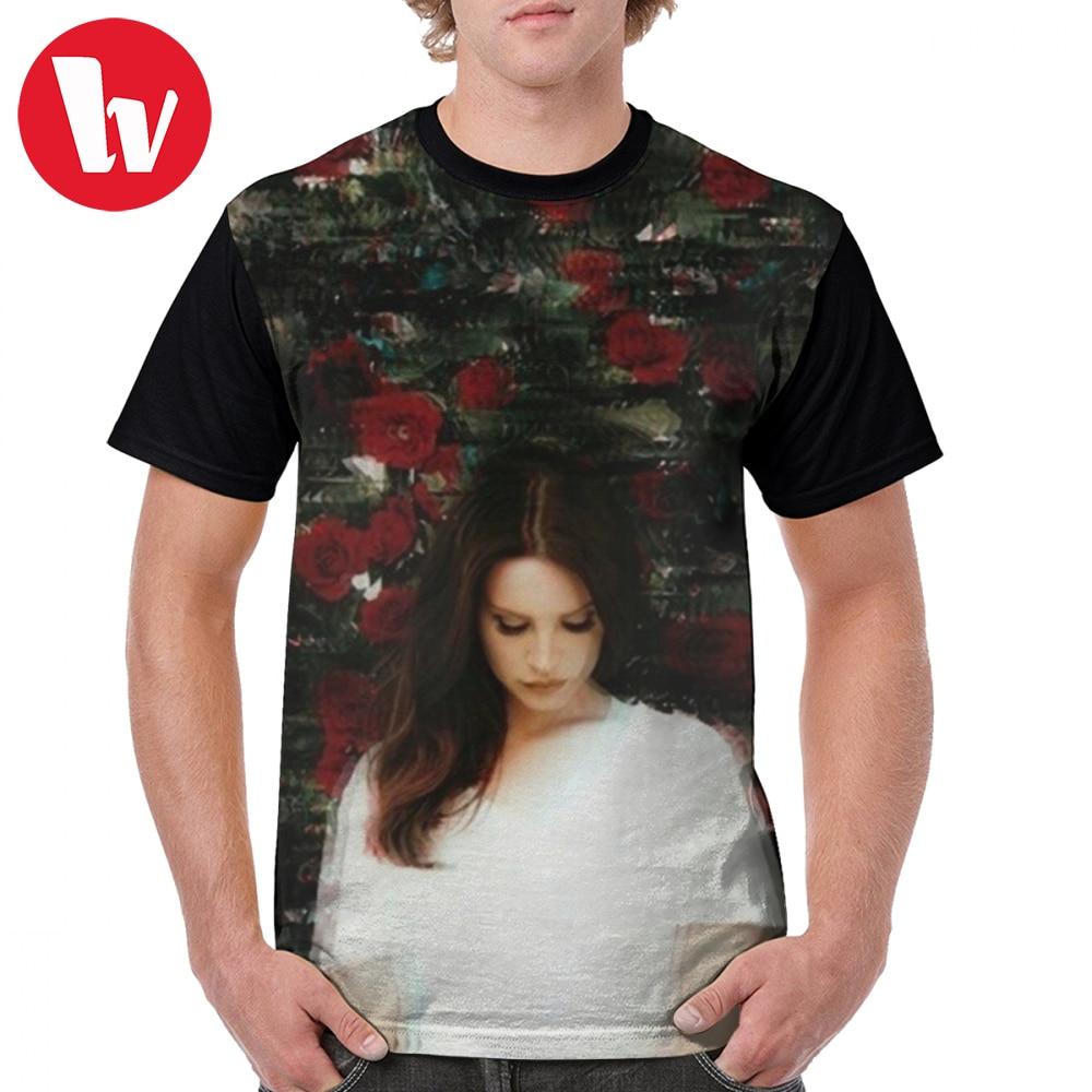 Lana del rey t camisa lana del rey camiseta impressão dos homens camiseta gráfica poliéster engraçado clássico mangas curtas 5x tshirt