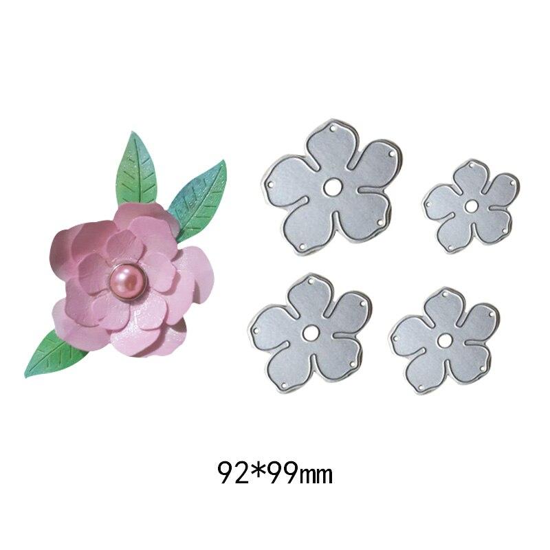 4 pçs/set Flores de Corte De aço do Metal Morre Handmade Selos Craft DIY Scrapbooking die Embossing Stencil Stencils de papel cartões
