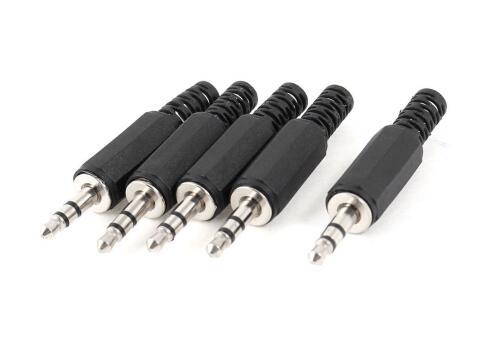 10 unids/lote carcasa de plástico negro 3,5mm conector de Audio conector de auriculares descuento