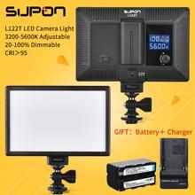 SUPON L122T светодиодный 3300K-5600K ультратонкий двухцветный ЖК-дисплей с регулируемой яркостью панель для студийной видеосъемки для камеры DV Camcorder ...