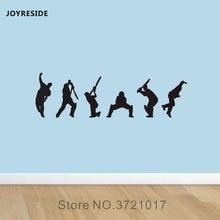 Joyreside الكريكيت ديكور الجدار شارات الفينيل ملصقا رجالي الرياضة تصميم فن زخرفة غرفة المعيشة المنزل الداخلية بوي نوم a018