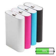 5V 2A batterie externe étui 3X 18650 chargeur de batterie boîte pour téléphone portable boîtier en métal sortie surtension protection
